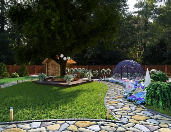 Ландшафтный дизайн в Гродно. 3D Визуализация